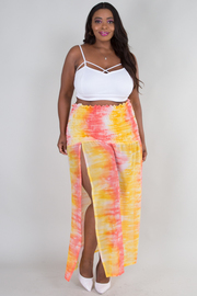 PLUS SIZE 2 in1 TUBE TOP AND BEACHWEAR SKIRT