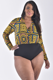 PLUS SIZE OVERLAP FRONT COOL BACK BODYSUIT