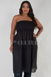 PLUS SIZE 2 in1 TUBE TOP OR SKIRT