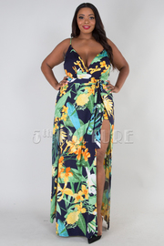 PLUS SIZE SEXY ROMPER WITH MAXI DRESS
