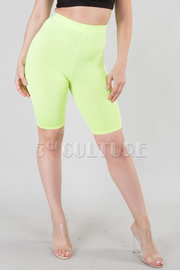 NEON COLOR LEGGINGS SHORTS