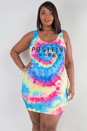 PLUS SIZE WIDE NECK SLEEVELESS FITTED MINI DRESS