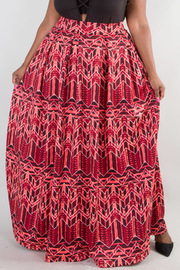PLUS SIZE High waisted with pockets long maxi skirt