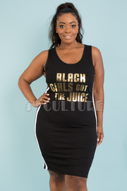 PLUS SIZE SLEEVELESS COLOR BLOCK SCRIPT PRINT MINI DRESS