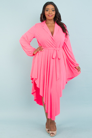 Plus size diamond drapes dress