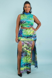 Plus size double slit open sets