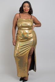 Plus size sequins dress