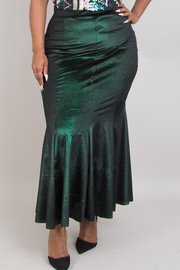 Plus Size Mermaid Metallic Skirts
