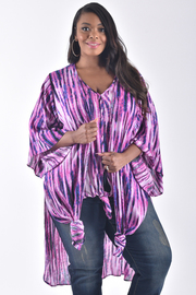 PLUS SIZE WIDE 3/4 SLEEVE OPEN FRONT CARDIGAN