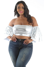 PLUS SIZE TUBE CROP TOP