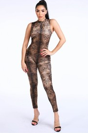 Animal Skin Velvet Jumpsuit.
