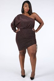 Plus Size One shoulder dress.