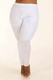 Plus Size Hologram dot leggings.
