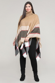 Turtleneck Stripe Pancho.