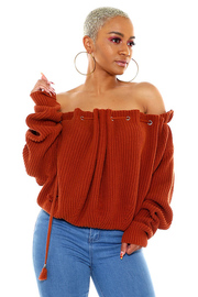 Off Shoulder long sleeve Sweater Top.