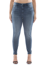 Plus Size High rise straight cut ankle skinny.
