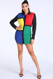 Mondrian color blocked.
