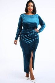 Plus Size Velvet Maxi dress.