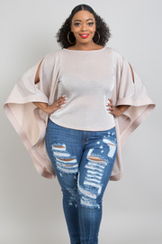 Plus Size Batwing slv top.
