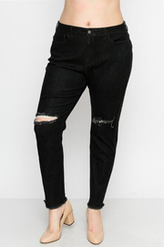 Plus Size Back denim with cut out knee.