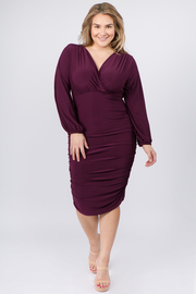 Plus Size A-Line Midi Dress