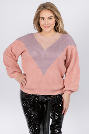 Plus Size Knit Sweater