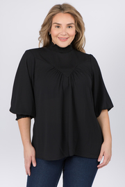 Plus Size Turtle neck 3/4 sleeve with cuff sleeves