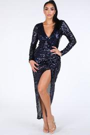 Sequin warp Maxi dress.