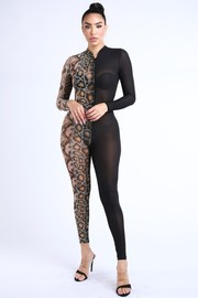 Snake& Black sheer jumpsuit.
