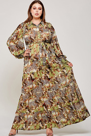 Plus Size Wildest dream print maxi dress.