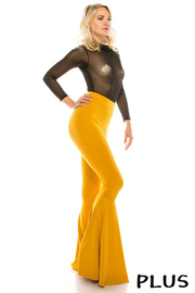 Plus Size Flare pants yoga fabric.