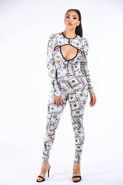 New money old money catsuit.