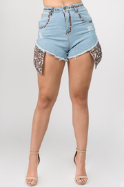 Denim Shorts with Sequin detail