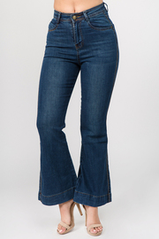 Flared Bottom Denim Jeans