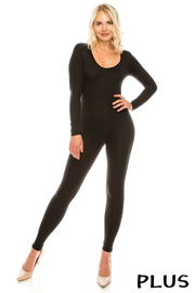 Plus Size Long sleeve catsuit.