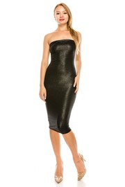 Tube solid glitter dress.