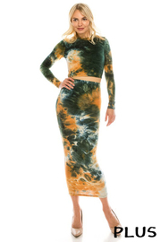 Plus Size DTY tie dye set.
