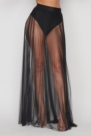 Pleated sheer thin tulle skirt. SKIRT ONLY!!!