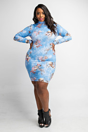 Plus Size Flower nick minie dress.