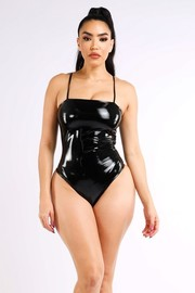 Latex bodysuit.