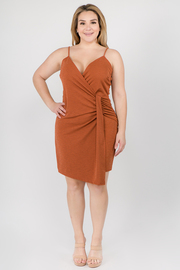 Plus Size Sleeveless Wrap Dress