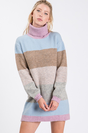Turtle neck dress sweater.
