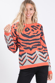 Animal round neck sweater.