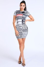 News alert dress.