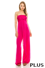 Plus Size Rayon multi do up jumpsuit.