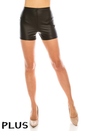 Plus Size Faux lether mini short.