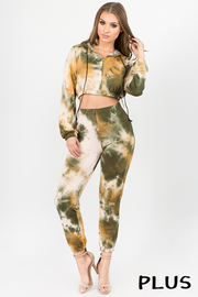 Plus Size Top and Pants tiedye 2 pcs set.