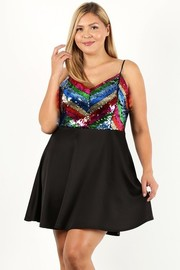 Plus Size Multi Sequin dress.