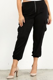 Plus Size Zip clossure cargo pants.
