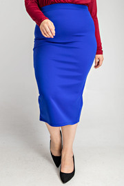 Plus Size Midi pencil skirt.